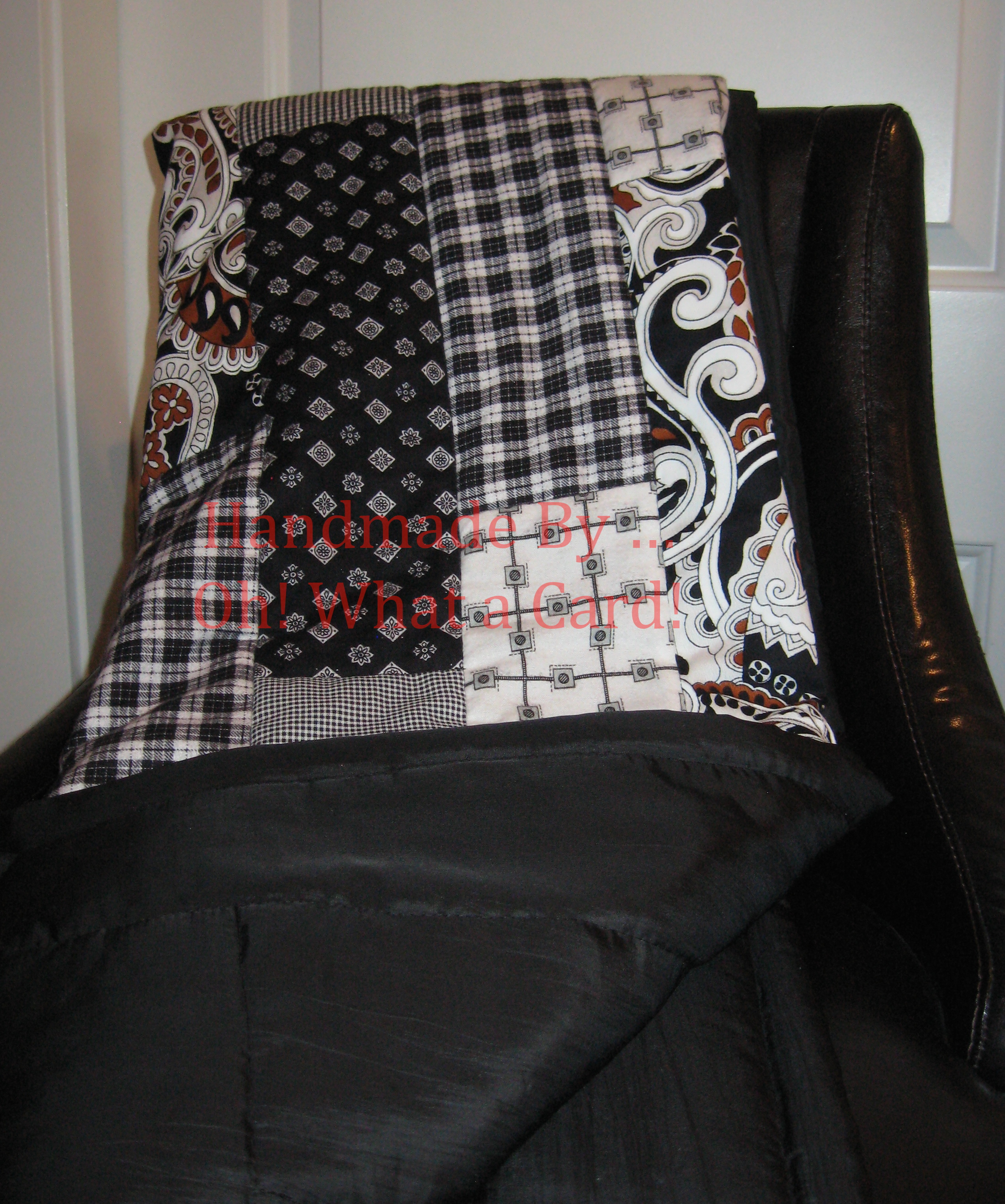 Black & White Reversible Quilt
