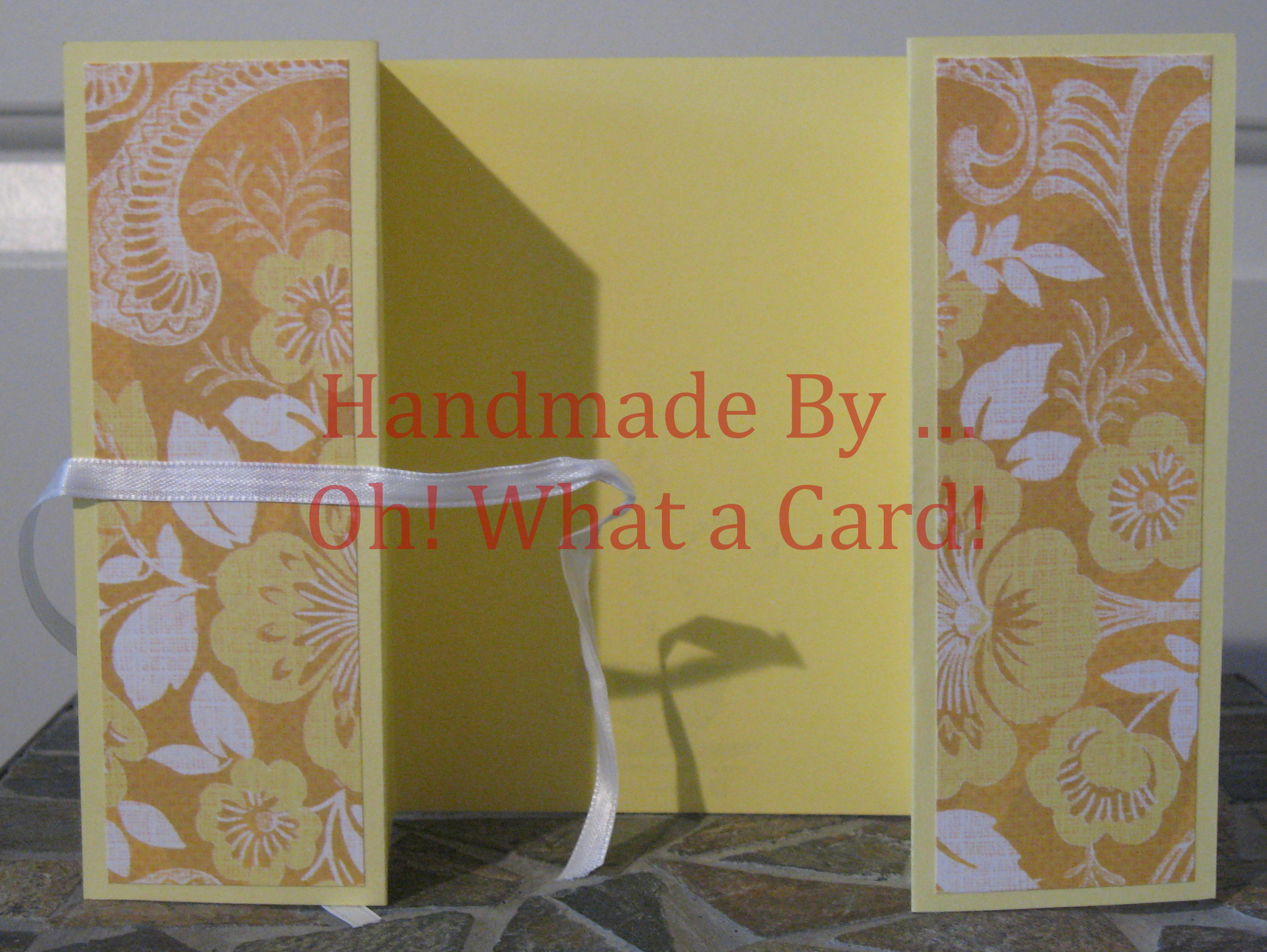 Yellow Florals Shutter-Fold Card