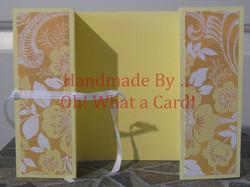 Yellow Florals Shutter-Fold Card