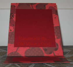 Blank Red Mantle Display Card