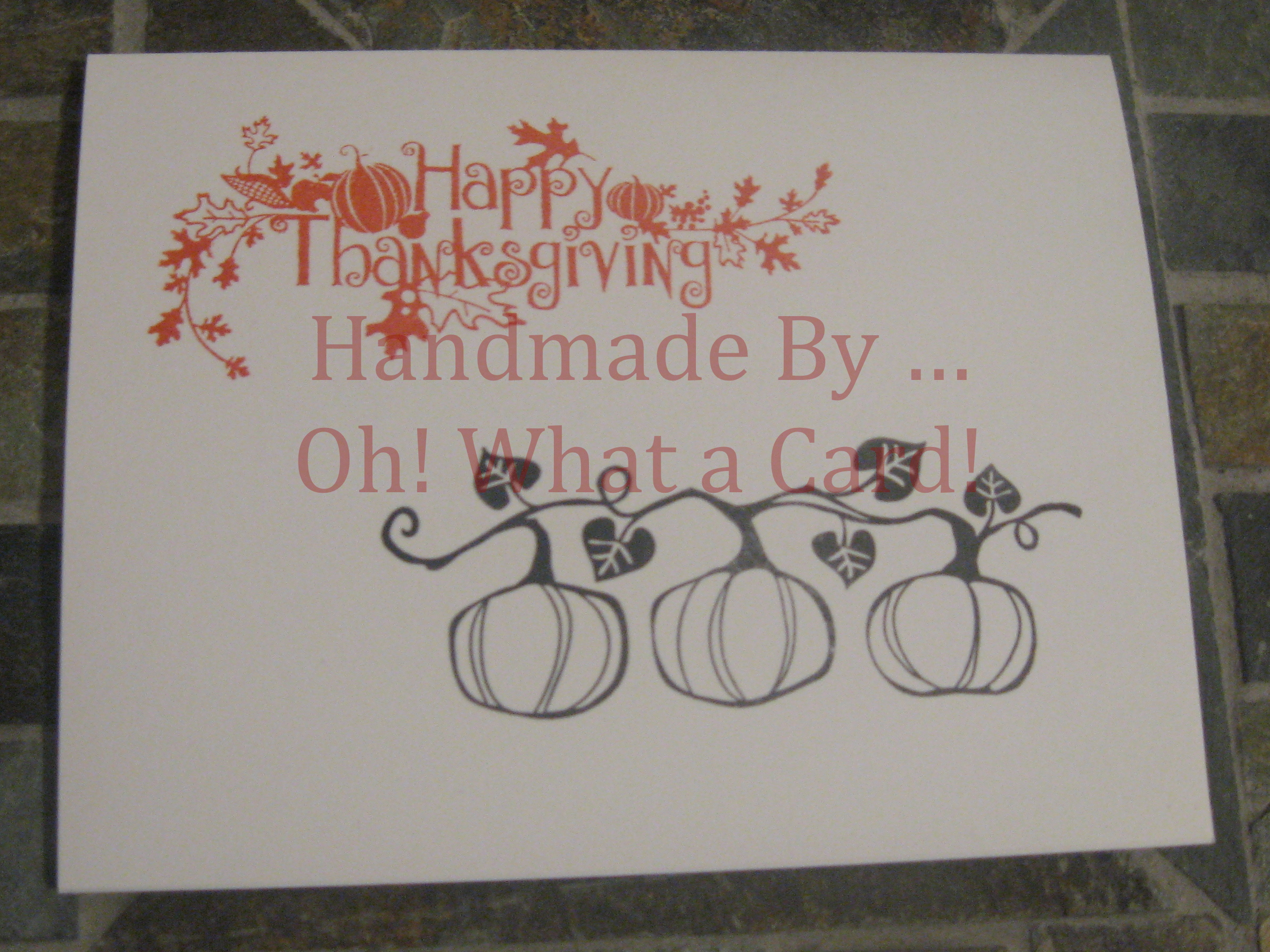 Orange Happy Thanksgiving Card