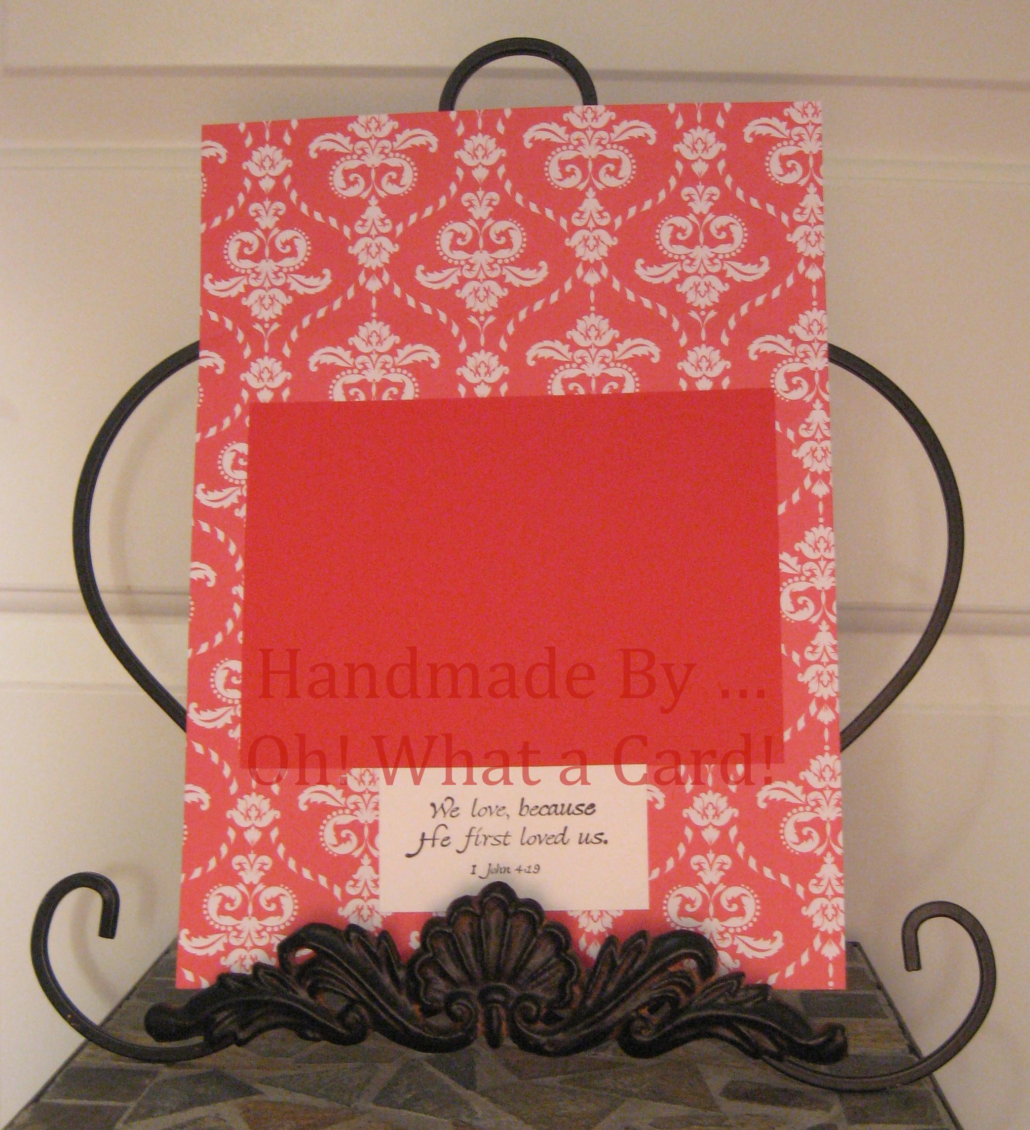 Red Floral Frame Insert