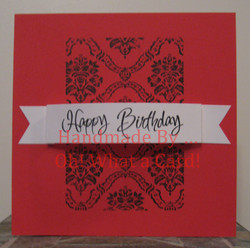 Happy Birthday Damask Card