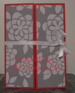 Red White Flowers Shutter-Fold Card