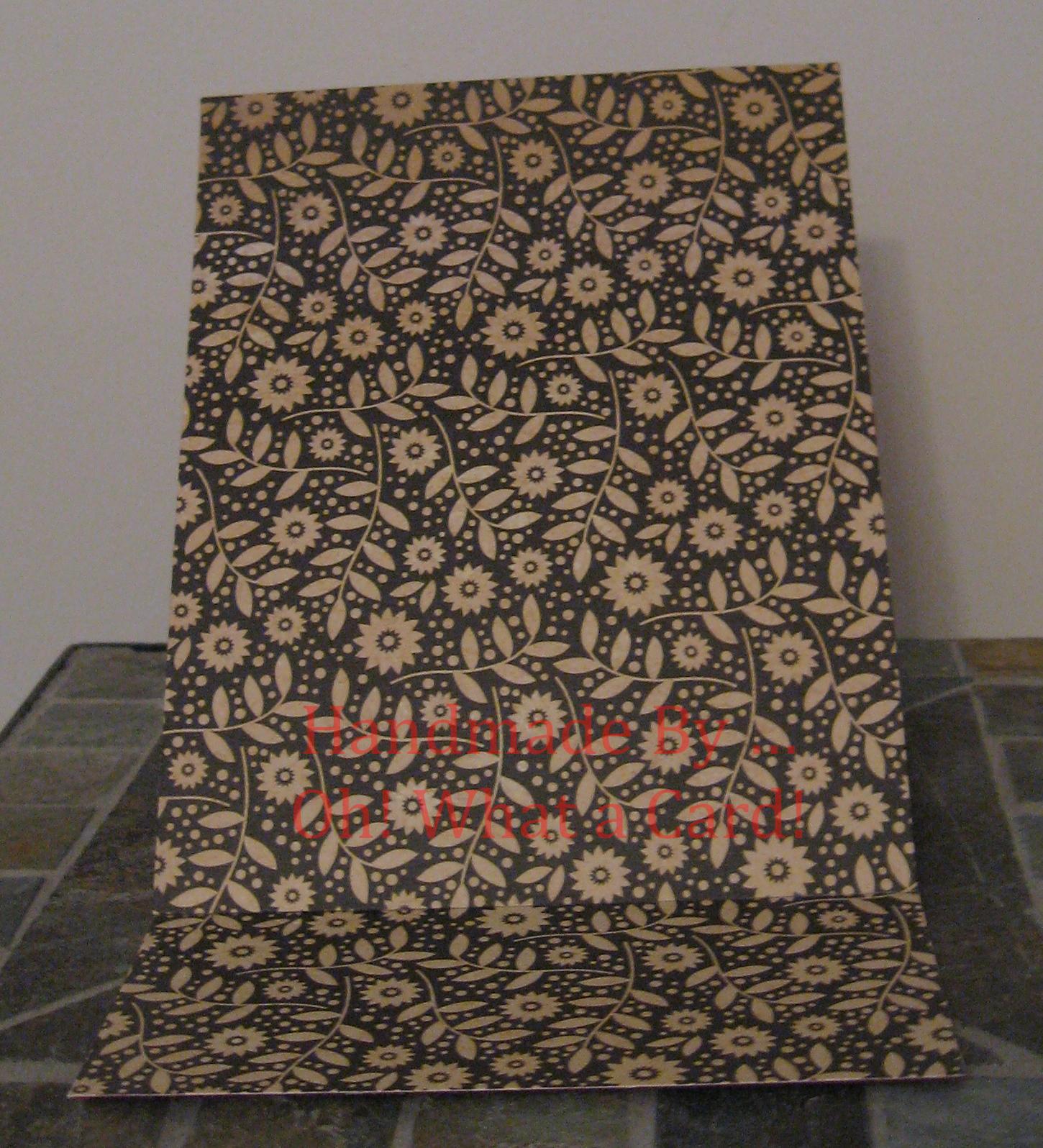 Blank Burgundy Floral Mantle Display Card