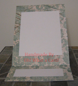 Blue Damask Mantle Display Card