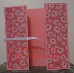 Pink Flowers Shutter-Fold Card
