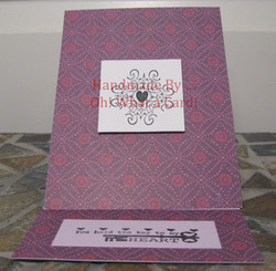Purple Key to My Heart Mantle Display Card