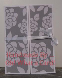 Grey Floral Shutter-Fold Card