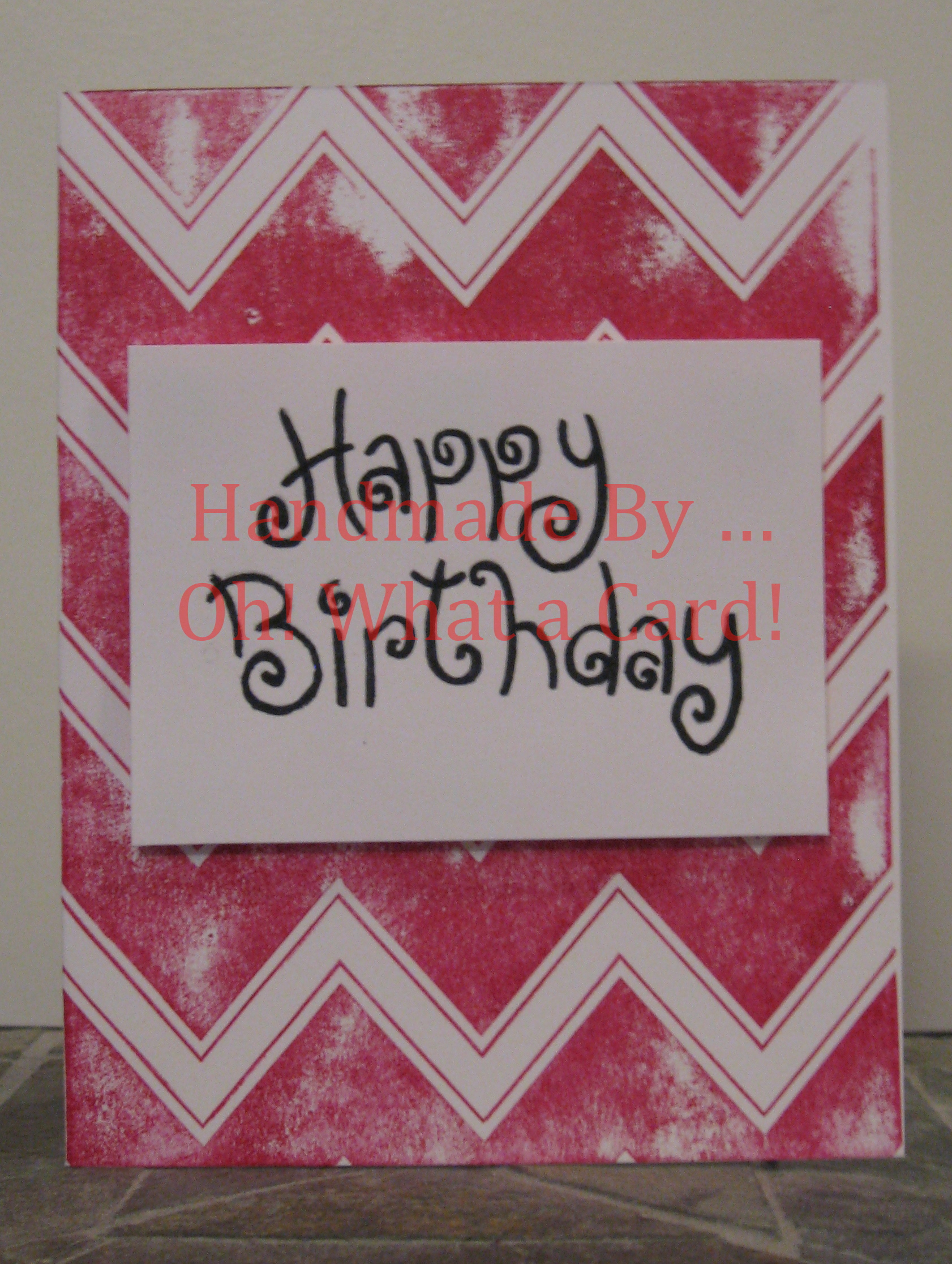 Happy Birthday Vintage Swirls Card