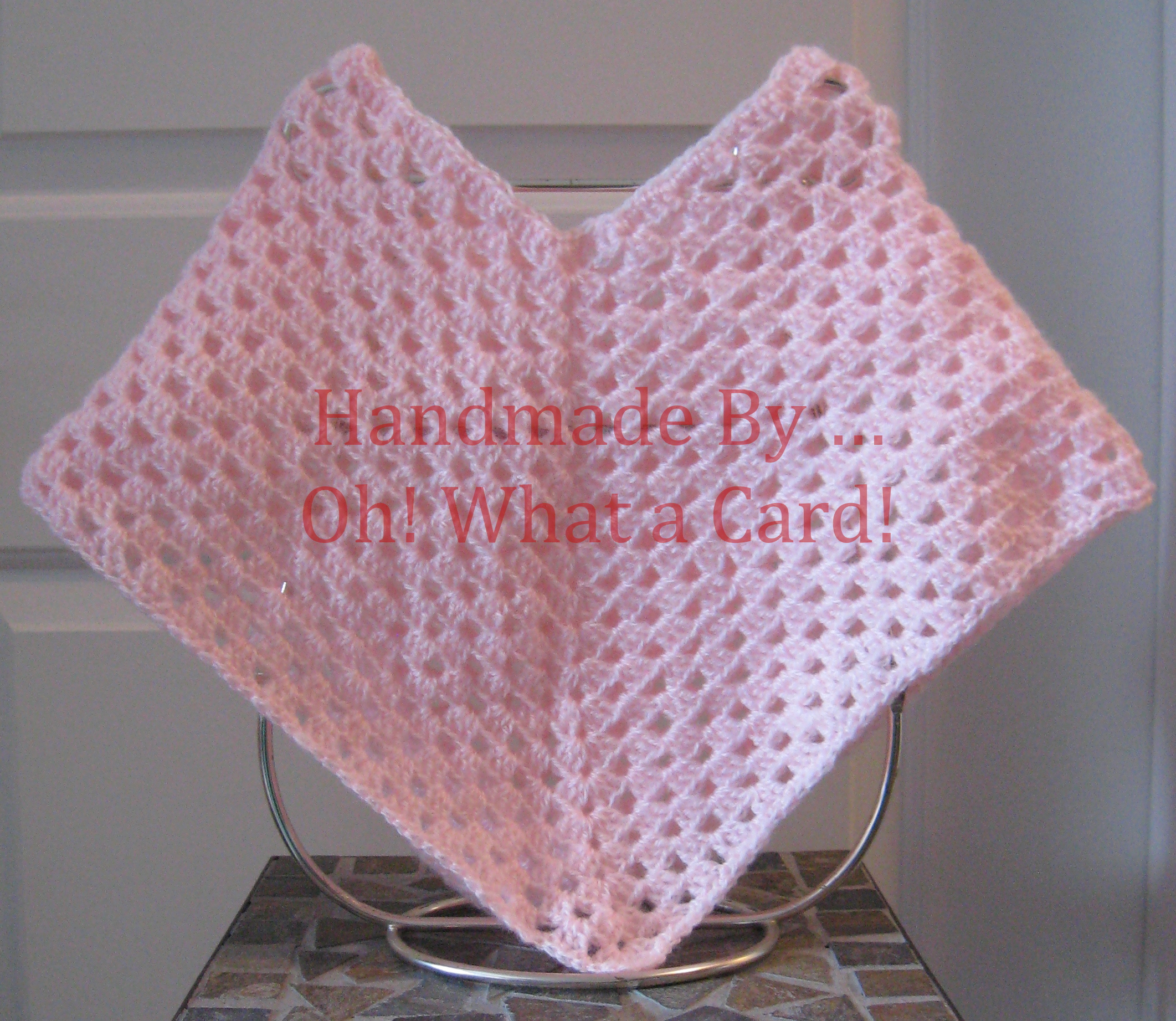 Pink Poncho - 1-3 Yr Olds