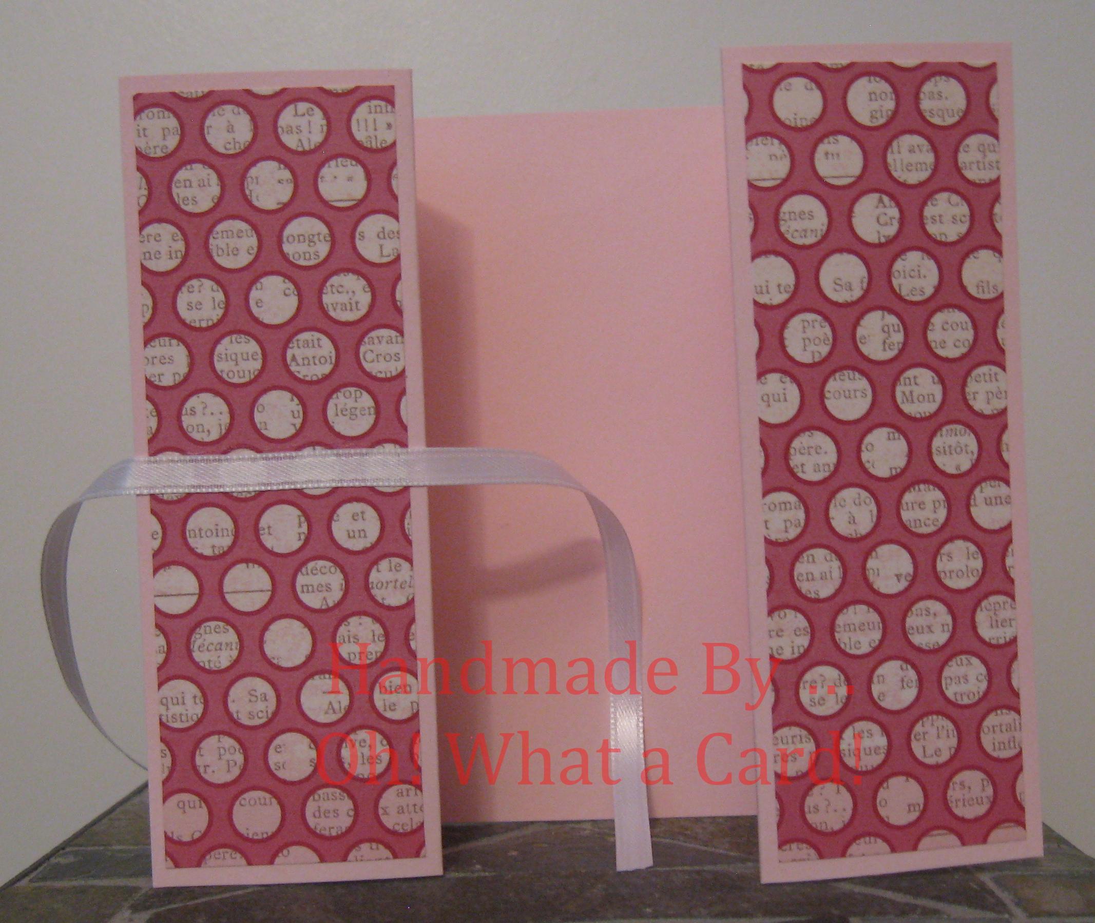 Pink Dots Shutter-Fold Card