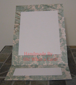 Picture Frame Light Blue Flowers Mantle Display Card