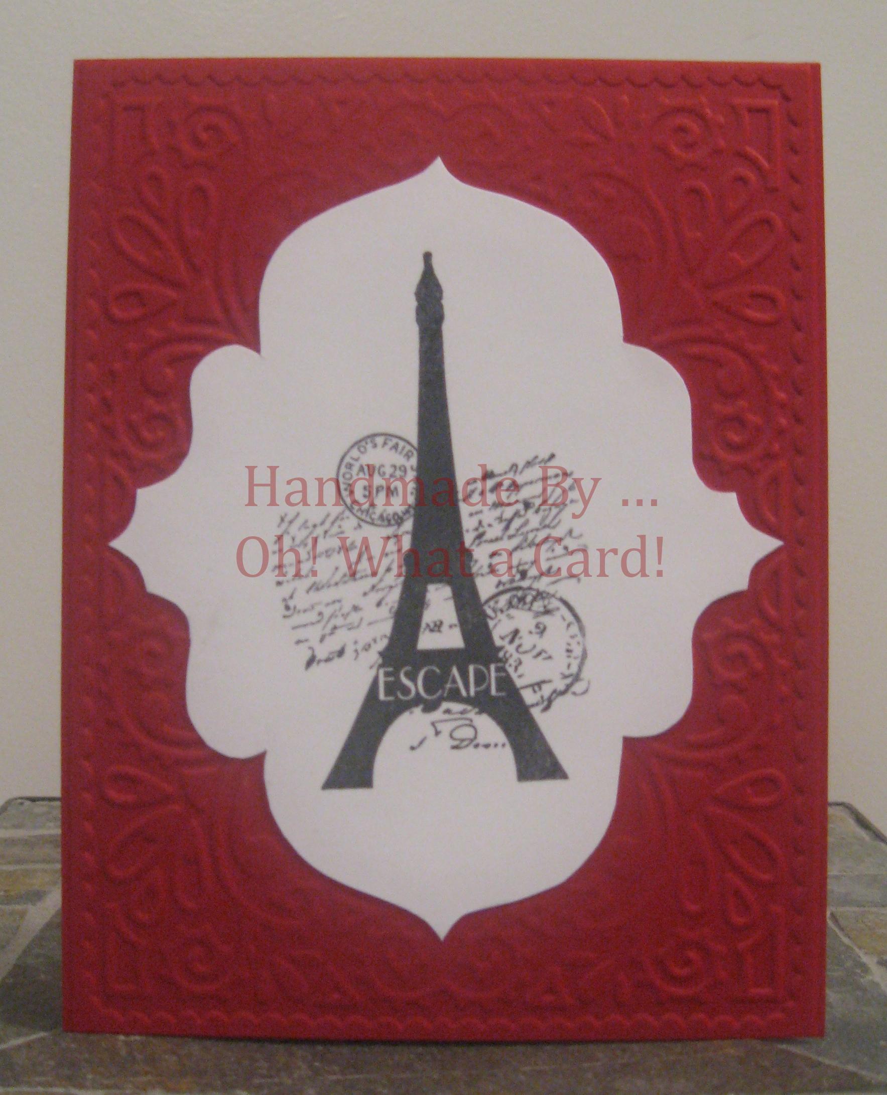 Eiffel Elegance - Burgundy Card