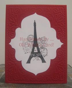 Eiffel Elegance - Burgundy