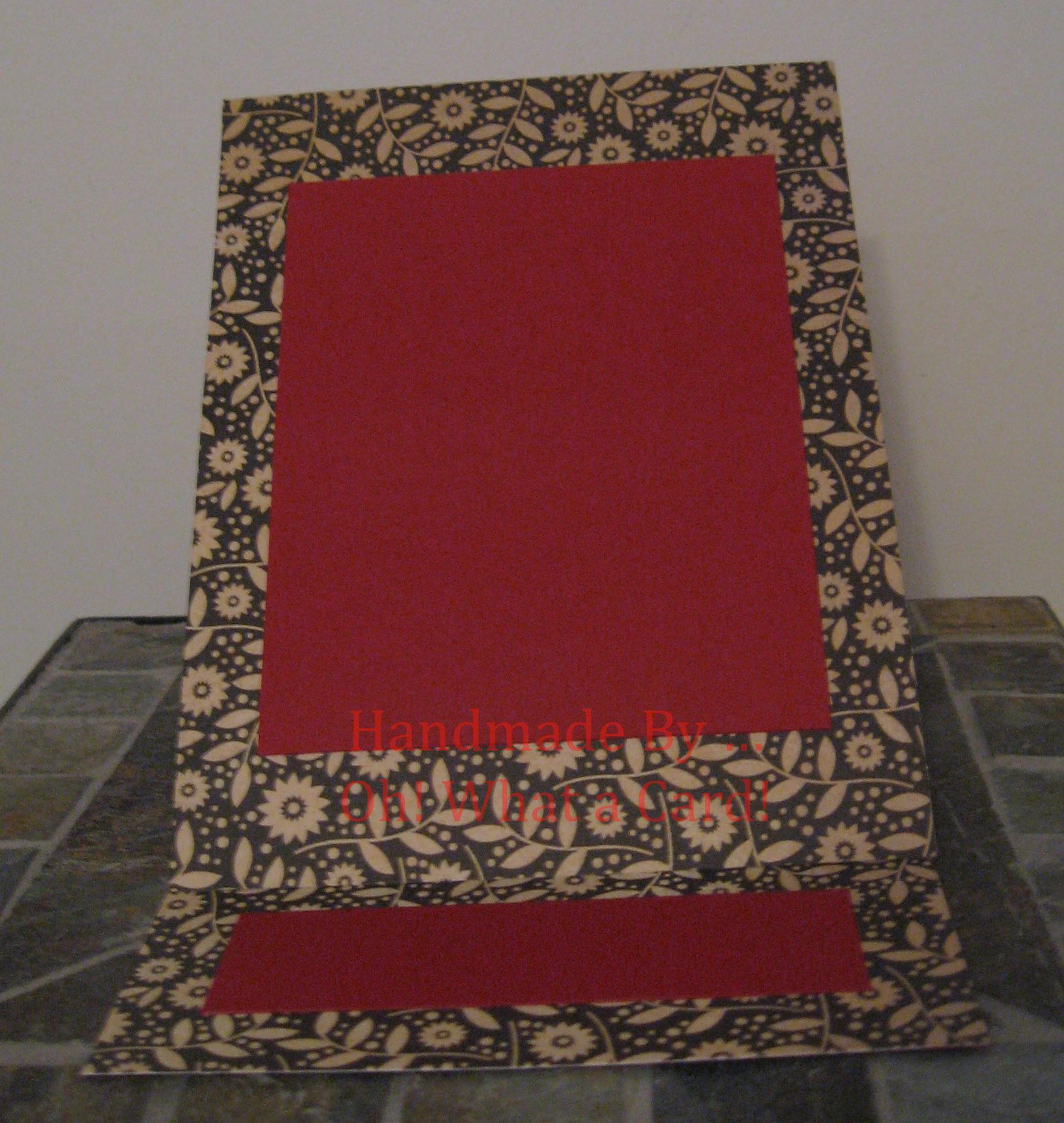Picture Frame Floral Burgundy Mantle Display Card