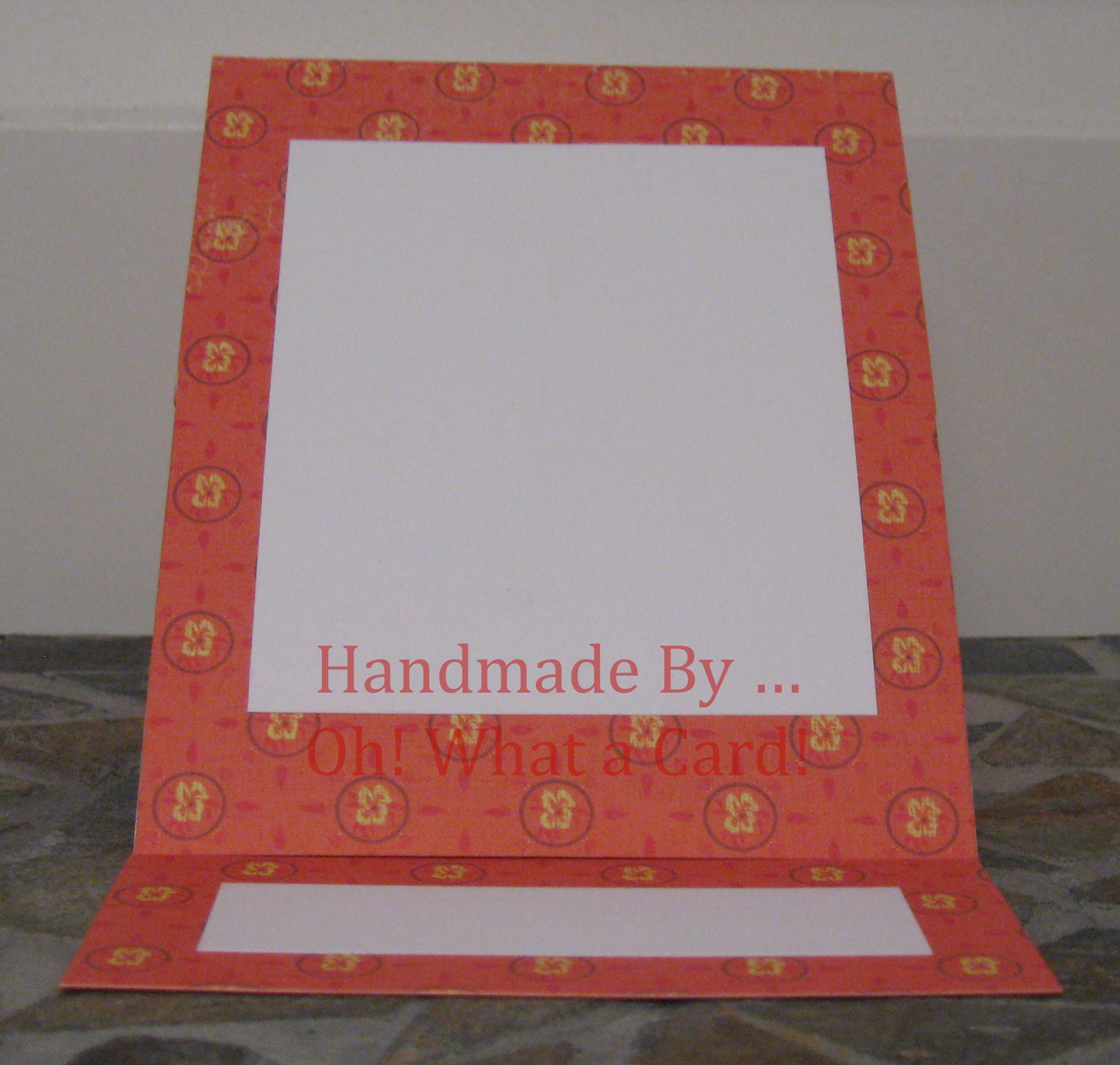 Blank Orange Mantle Display Card
