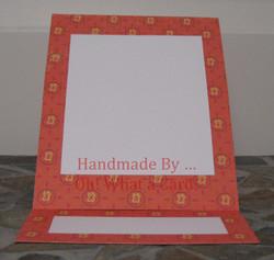 Picture Frame Orange Mantle Display Card