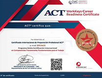 CERTIFICADO ACT NATIONAL CAREER READINESS CERTIFICATE