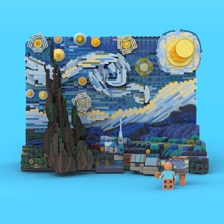 LEGO ภาพแวนโกะ ตัวต่อเซ็ท 'Starry Night' ที่จะถูกผลิตจริง