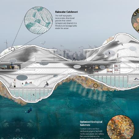 ห้องทดลองดูแลสัตว์น้ำกลางทะเล