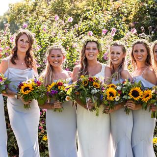 Bridesmaids Sunflower posies