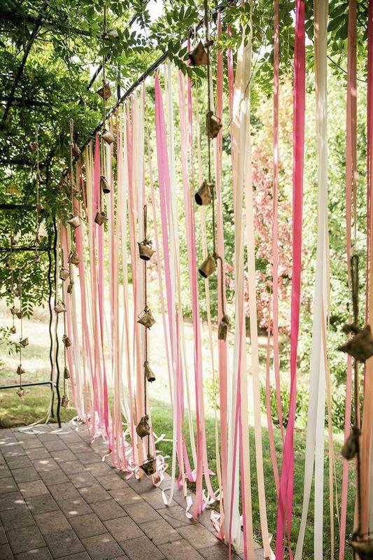 ribbons for a garden  wedding