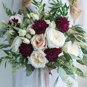 No 8. Burgundy & Blush Roses