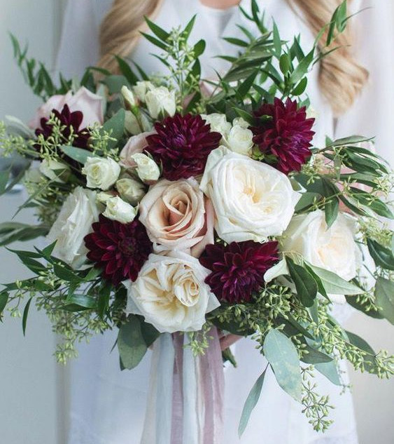 No 8. Burgundy & Blush Roses