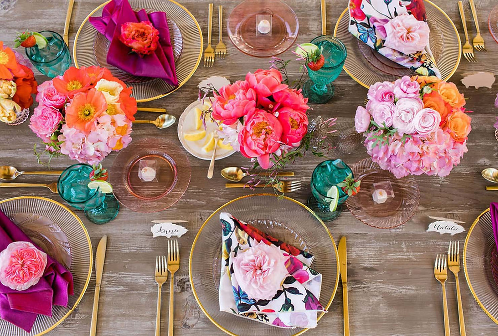 colourful table decor