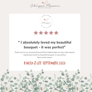One of our many lovely reviews