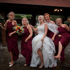 Sarah and her Bridesmaids