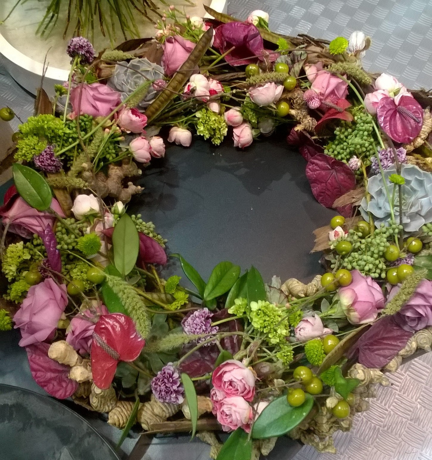 Pastel pink Textured Wreath