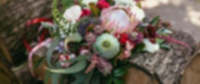Protea themed wedding bouquet