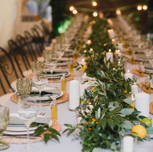 Coziness and style. Modern event design.