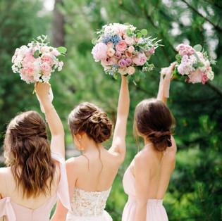 Pink & Blue Bouquets