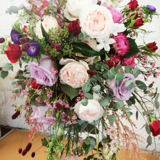 Lilac & Blush Cascade Bouquet
