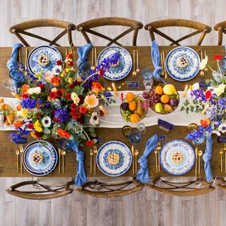 Colour pop table decor