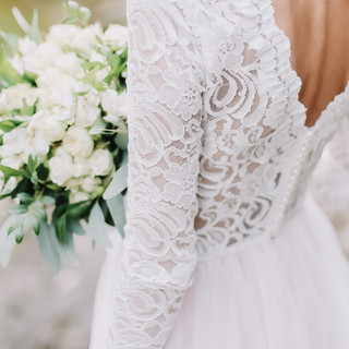 Lace and Rose Bouquet