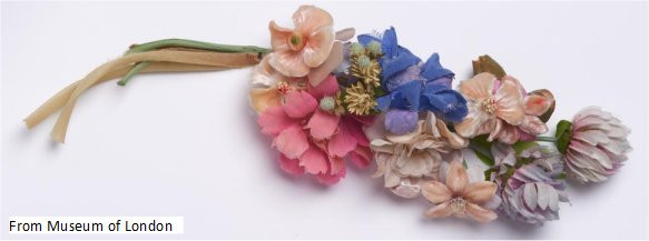 Victorian fabric flowers