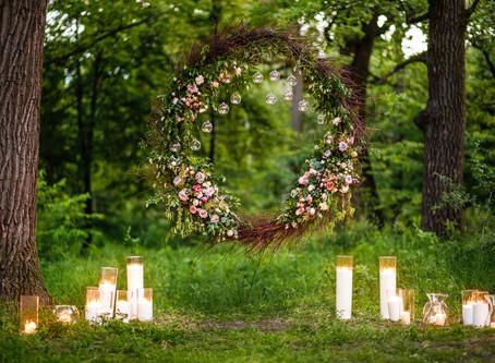 How to decorate a Garden Wedding
