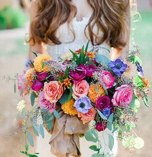 Colourful wild bouquet.
