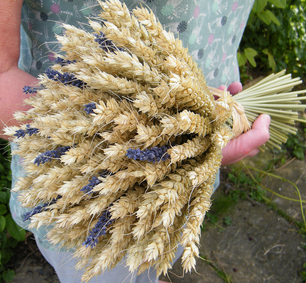 Wheat and lavender bouquet