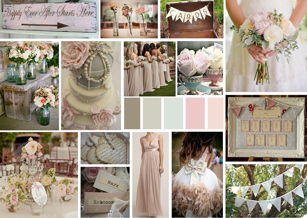 pastel themed mood board