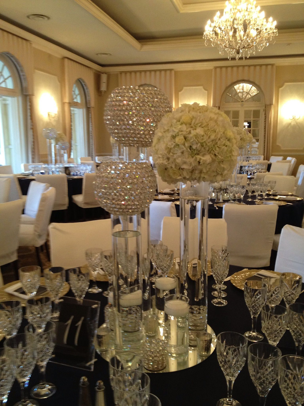 Crystal table decor