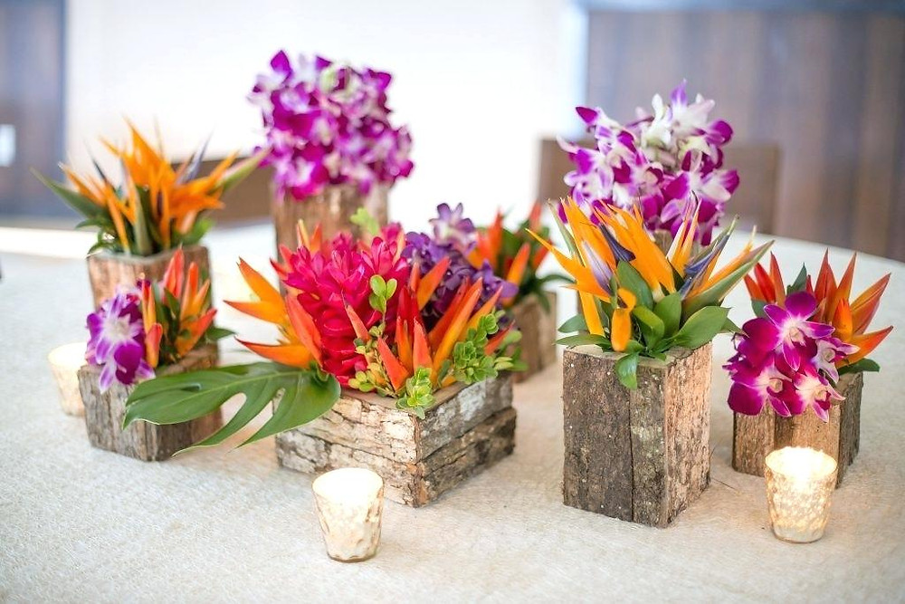 Orchid table centrepieces