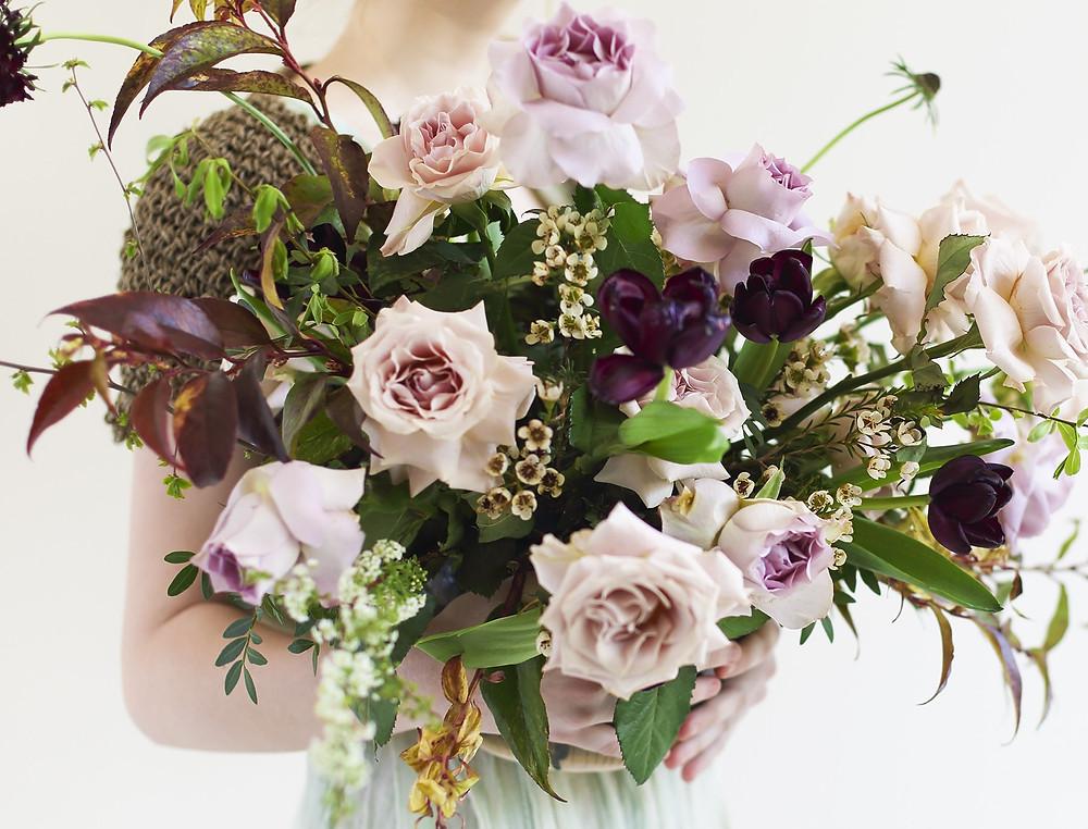 Pale lilac rose bouquet
