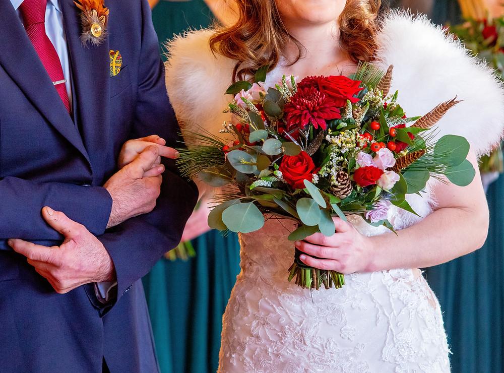Winter wedding at South Lodge