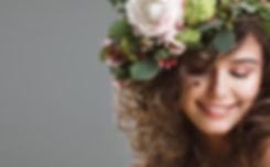 Studio beauty portrait of cute young gir