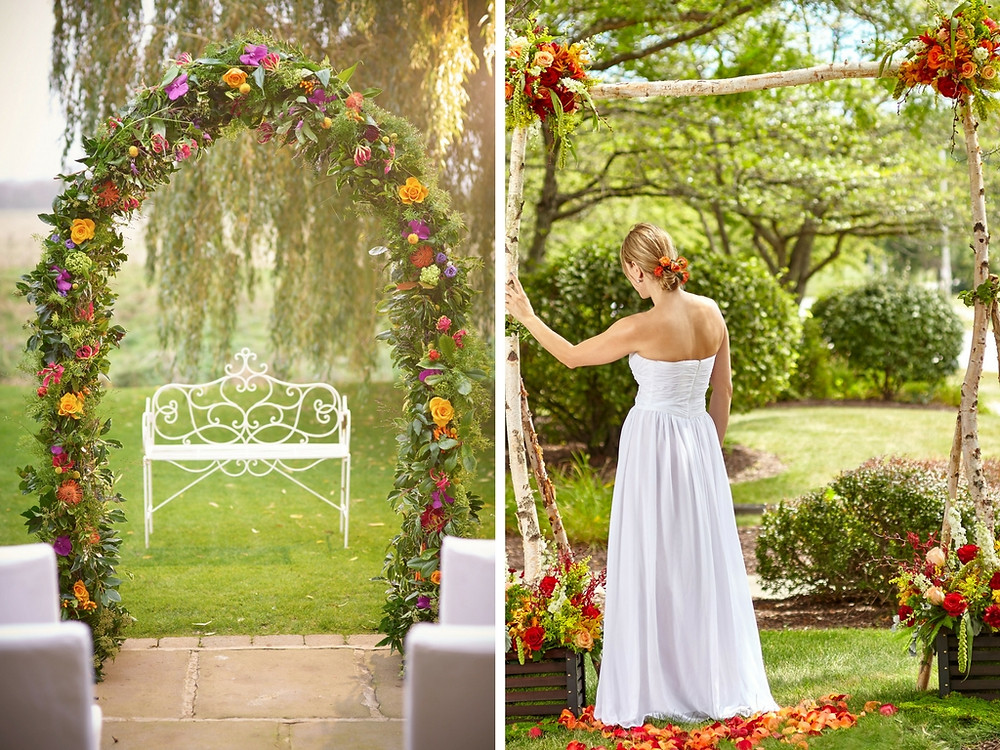 Summer flower arch for ceremony